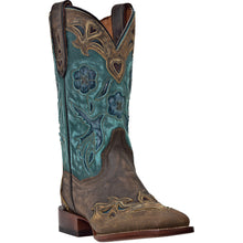 DAN POST WOMEN'S LEATHER CC BLUEBIRD COPPER - TURQUOISE- back40trading2 - 2