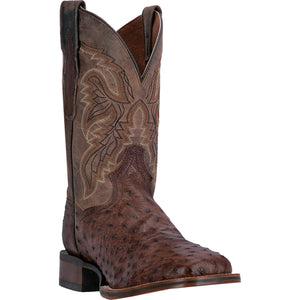 DAN POST MEN'S OSTRICH ALAMOSA CHOCOLATE- back40trading2 - 1