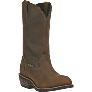 DAN POST MEN'S LEATHER ALBUQUERQUE MID BROWN- Back40Trading2 - 4
