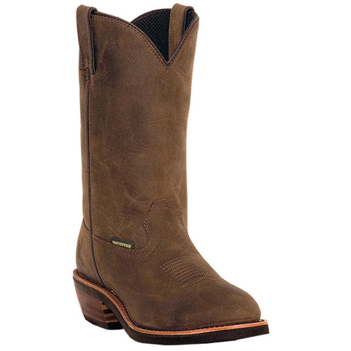 DAN POST MEN'S LEATHER ALBUQUERQUE MID BROWN- Back40Trading2 - 1