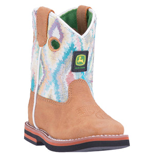JOHN DEERE INFANT'S  MAN-MADE JOHNNY POPPER INFANT TAN - MULTI