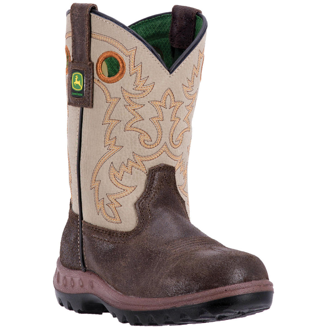JOHN DEERE CHILDREN'S  LEATHER JOHNNY POPPER CHILDREN'S GREY