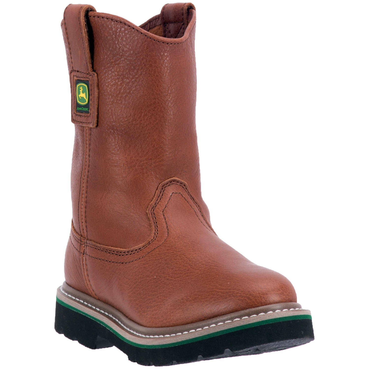 JOHN DEERE YOUTH'S  LEATHER JOHNNY POPPER YOUTH WALNUT