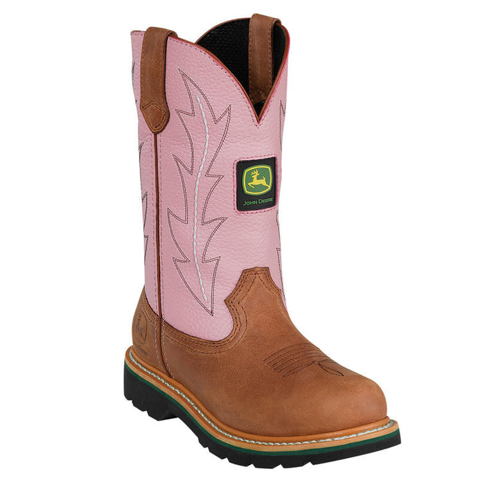 JOHN DEERE WOMEN'S  LEATHER CLASSIC TAN - PINK- back40trading2 - 2