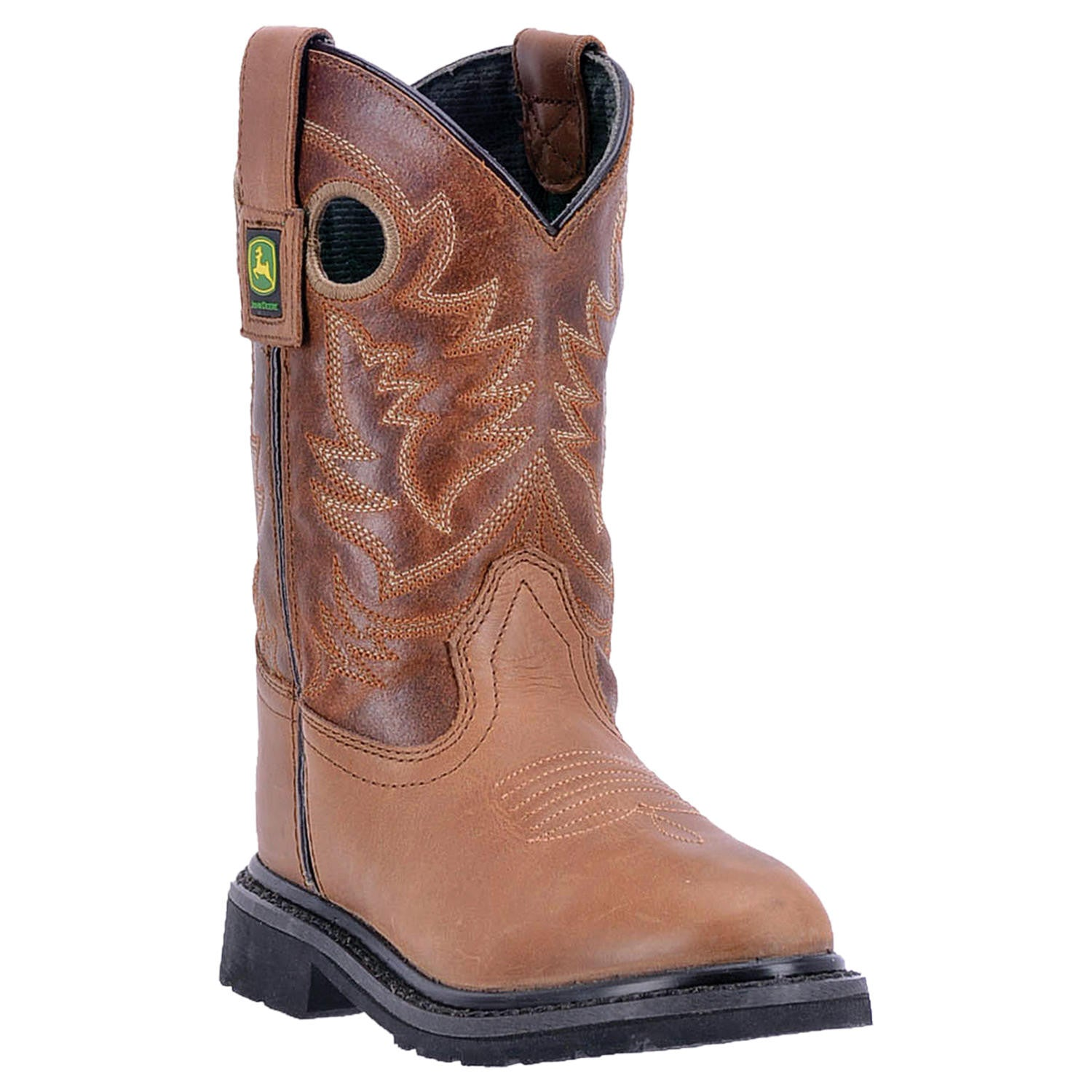 JOHN DEERE YOUTH'S  LEATHER JOHNNY POPPER YOUTH BROWN - TAN