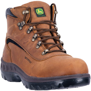 JOHN DEERE MEN'S  LEATHER WATERPROOF TAN
