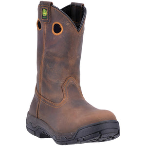 "JOHN DEERE MEN'S  LEATHER 11"" ALLOY TOE EH BROWN"