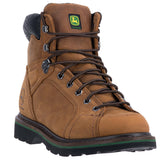 JOHN DEERE MEN'S  LEATHER LACE TO TOE DARK BROWN