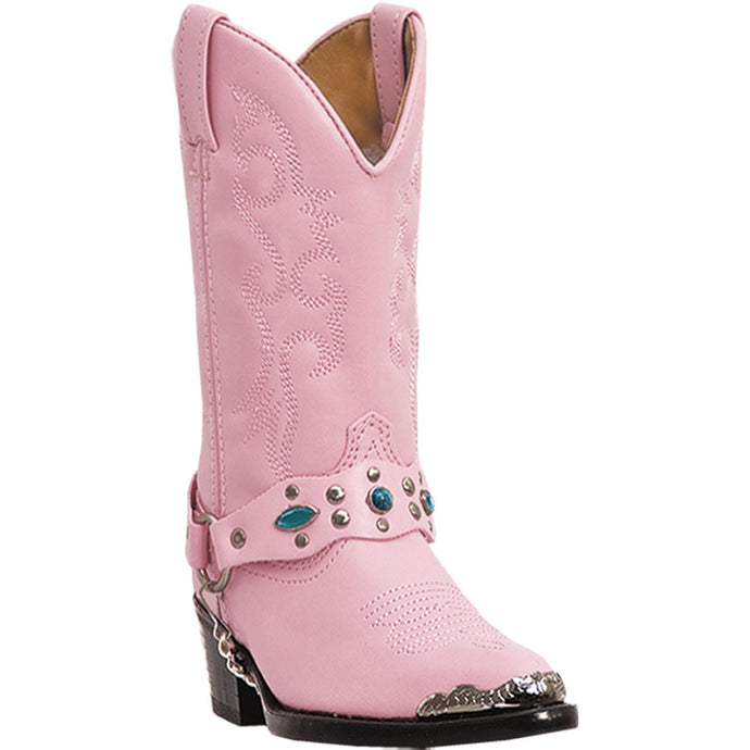 LAREDO CHILDREN'S  MAN-MADE LITTLE CONCHO PINK - back40trading2
