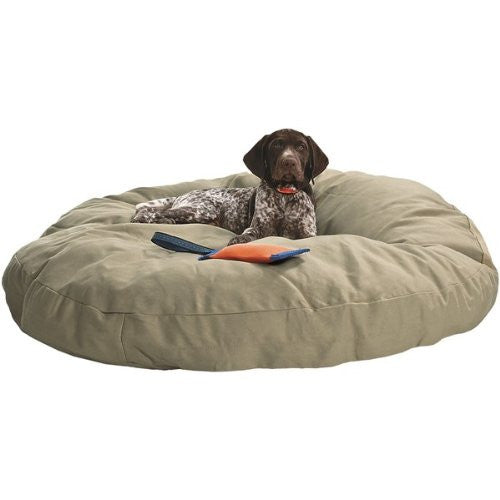 "Dog Bed - Round Canvas Linen 40"" in Durable Cotton Duck"