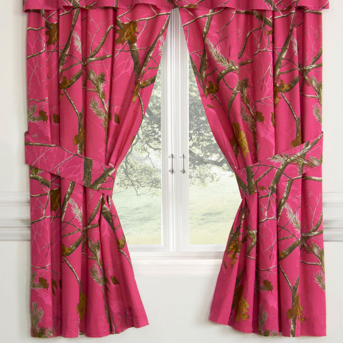 Realtree All Purpose APC Fuchsia Rod Pocket Curtains - Back40Trading2