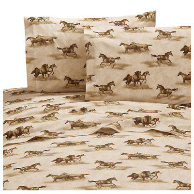 Wild Horses Sheet Set  King - Back40Trading2
