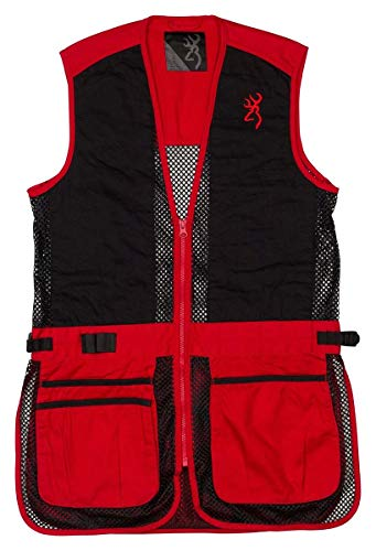 Browning Junior Trapper Creek Mesh Shooting Vest-Red/Black