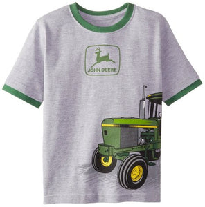 John Deere Little Boys' Husky Short Sleeve Tractor Graphic Tee - Back40Trading2  - 1