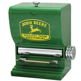 John Deere Toothpick Dispenser - Sturdy Plastic With Polished Chrome Accents - Back40Trading2