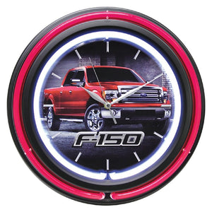 "Ford F-150 15"" Double Neon Clock- back40trading2"