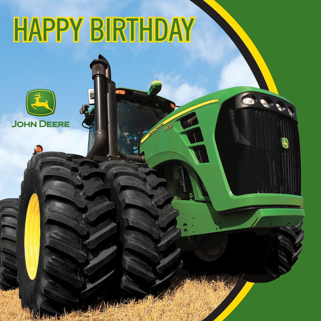 John Deere Happy Birthday Luncheon Napkins, 16 Count
