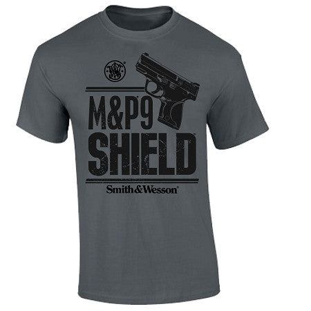 Smith & Wesson Clothing M&P9 Shield T-Shirt Charcoal - Back40Trading2