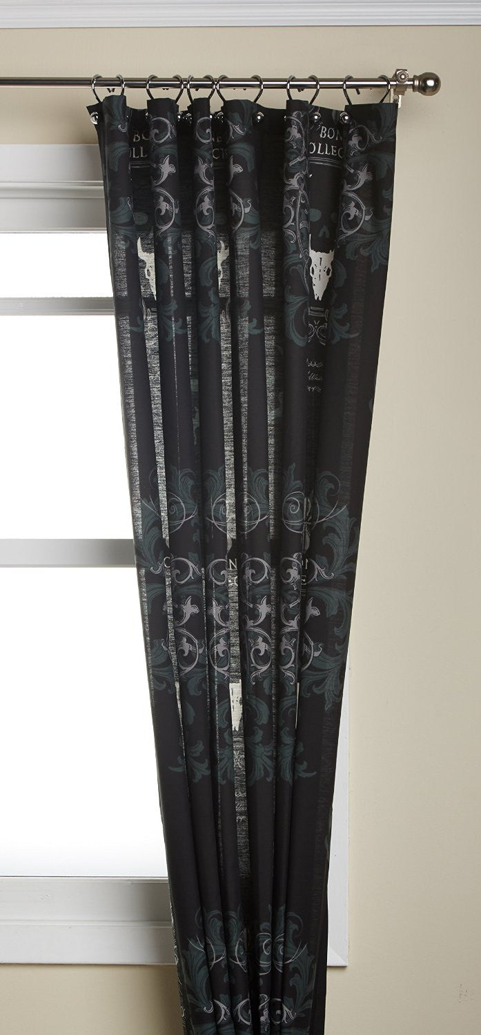 Bone Collector Black Shower Curtain - Back40Trading2