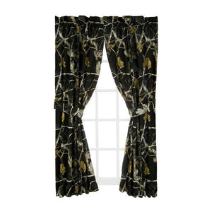 AP All Purpose Camo Black Rod Pocket Curtains - Back40Trading2