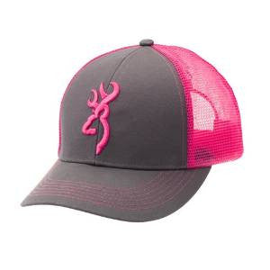 Browning Flashback Cap Charcoal/Neon Pin - Back40Trading2  - 1