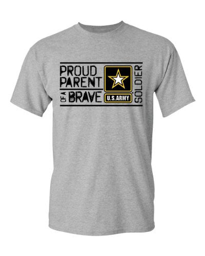 U.S. Army Men's Proud Parent of a Brave Soldier Tee - Back40Trading2
