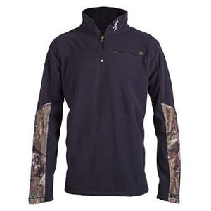 Browning Men's Hackney 1/4 Zip Fleece Hackney Jacket Black - Back40Trading2