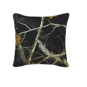 AP All Purpose Camo Black Square Pillow - Back40Trading2