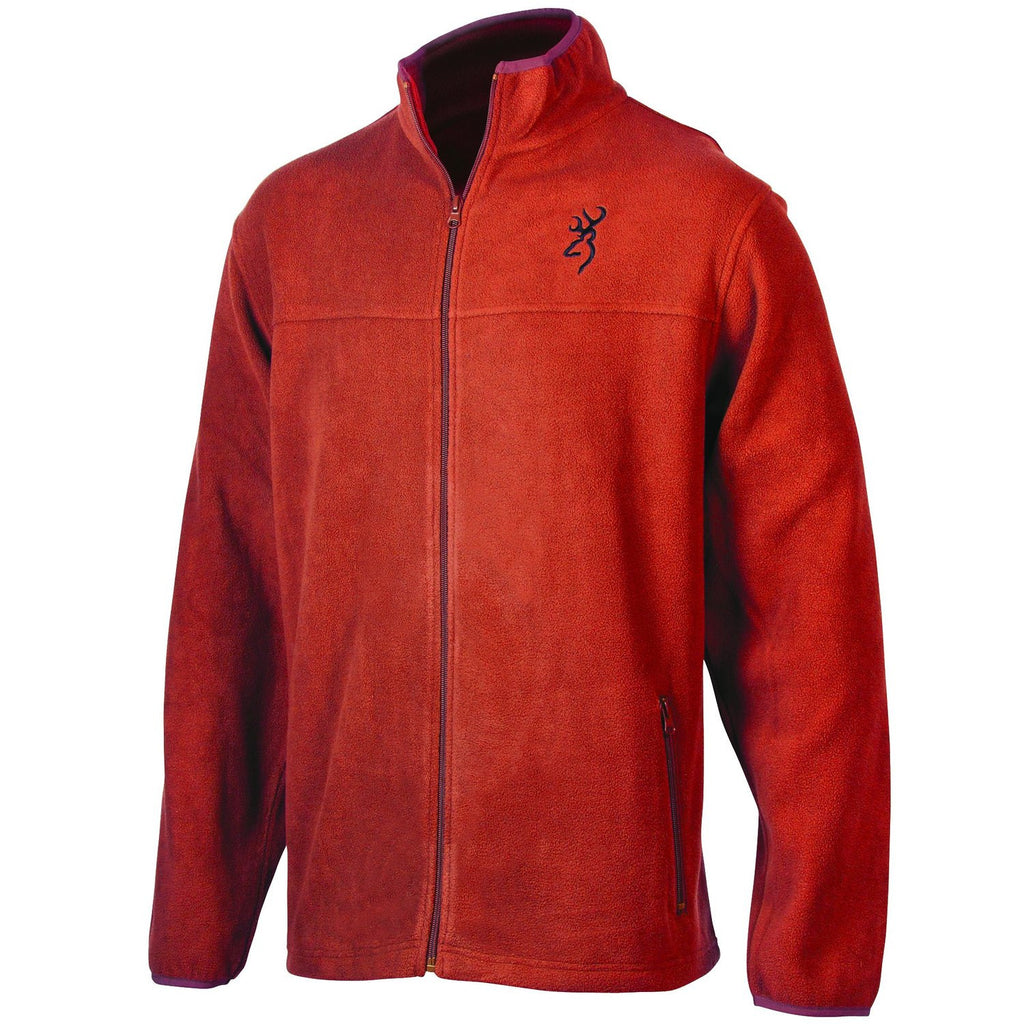 Browning Men's Laramie Fleece Jacket Red Tea