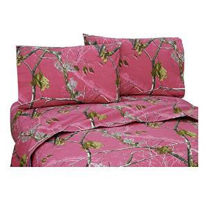Realtree All Purpose APC Fuchsia Sheet Set Queen - Back40Trading2