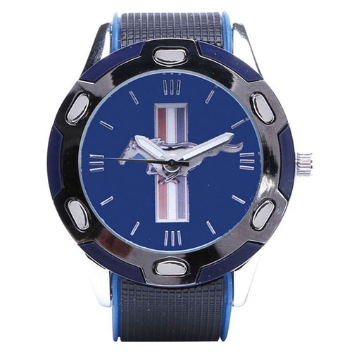 Ford Mustang Black/Blue Wrist Watch - Back40Trading2
