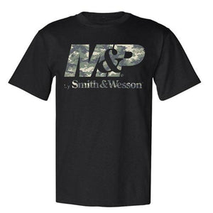M&P by Smith & Wesson Digi Camo Logo Tee Black - Back40Trading2