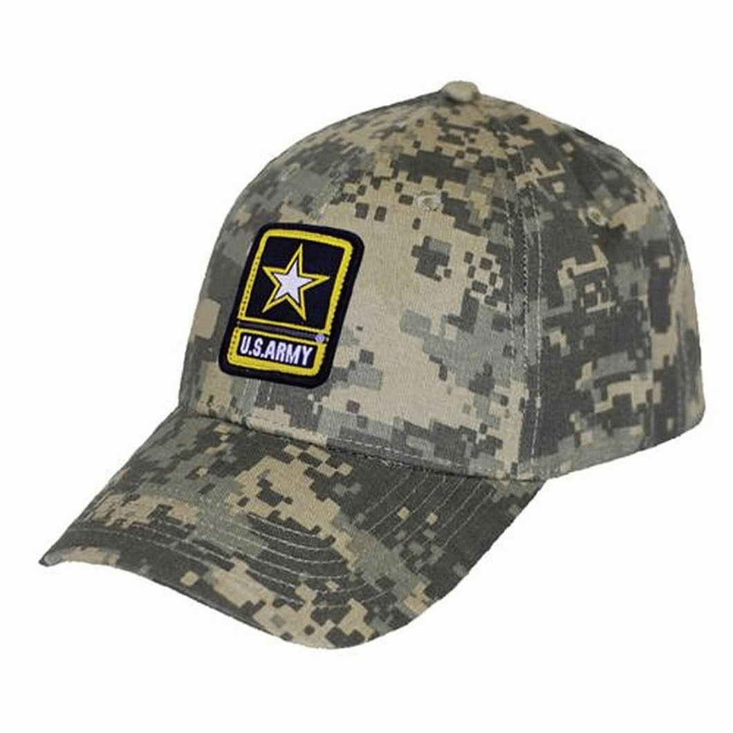 US ARMY DIGI CAMO TWILL SOLID BACK HAT - Back40Trading2