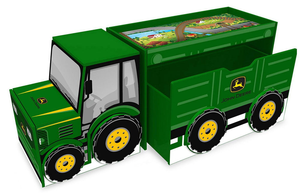 Everbright John Deere Tractor Desk/Toy Box /Storage Unit, Green