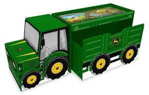 Everbright John Deere Tractor Desk/Toy Box /Storage Unit, Green - Back40Trading2