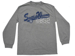 Smith & Wesson Men's Script Logo Long Sleeve T-Shirt - Back40Trading2