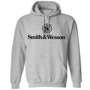 Smith & Wesson Men's Stacked Logo Pullover Hooded Sweatshirt - Back40Trading2