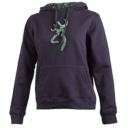 Browning Women's Realtree AP Pigment Green Camo Buckmark Sweatshirt Black - Back40Trading2