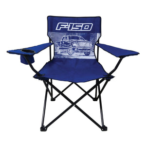 Ford F-150 Truck Big Man Camp Chair with Cup Holder - Back40Trading2