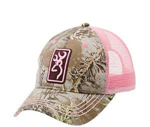 Browning Women's Conway Cap, Realtree Max-1/Pink - Back40Trading2  - 1