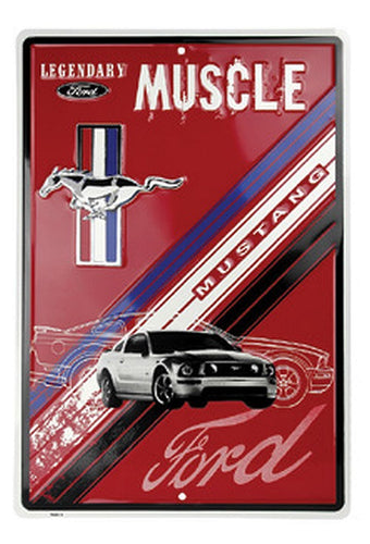 Legendary Ford Muscle Sign Mustang Red 12
