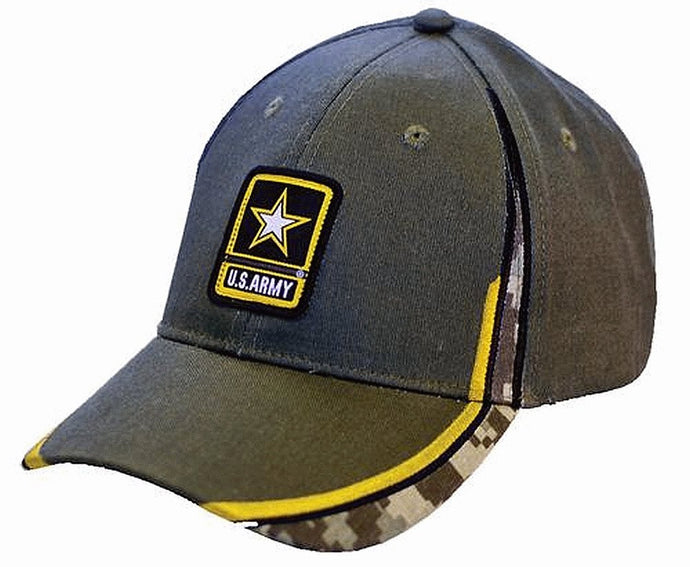 US Army Racing Stripe Twill Hat - Back40Trading2