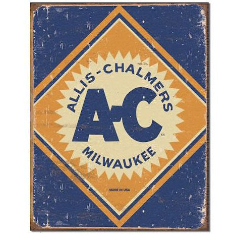 Allis Chalmers Logo Tin Sign , 12x16 - Back40Trading2