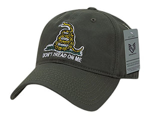 Rapid Dominance Gadsden Flag Relaxed Graphic Cap, Olive