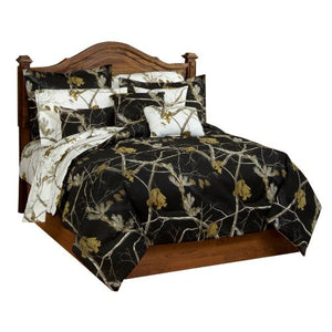 AP All Purpose Camo Black Comforter/Sham Set Queen - Back40Trading2