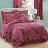 Realtree AP Fuchsia Hot Pink Camo 8 Pc Queen Comforter Set and One Window Valance/ Drape Set - Back40Trading2