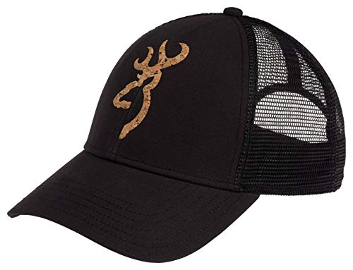 Browning Low Pro Cork Logo Mesh Hat, Black