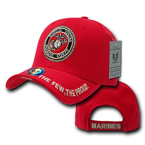RAPID DOMINANCE The Legend, Military Branch Caps (Adjtable , Marines Red)