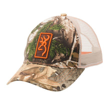 Browning Buckmark Conway Cap Hat, Realtree Xtra/Orange - Back40Trading2  - 1