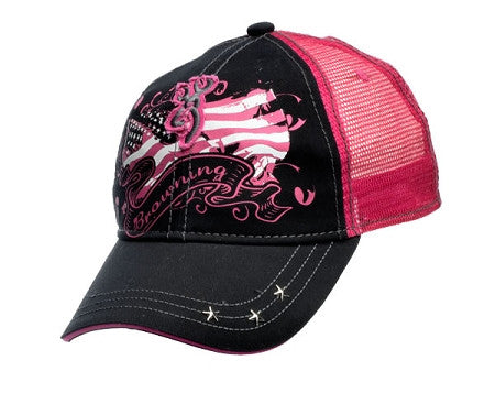 Browning For Her Liberty Cap, Black/Fuchsia - Back40Trading2